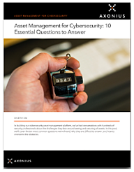 10 Essential Questions Cybersecurity Asset Management