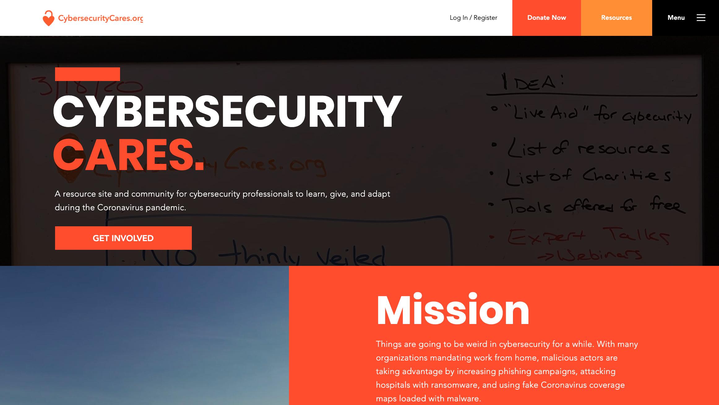 Cybersecurity Cares Website