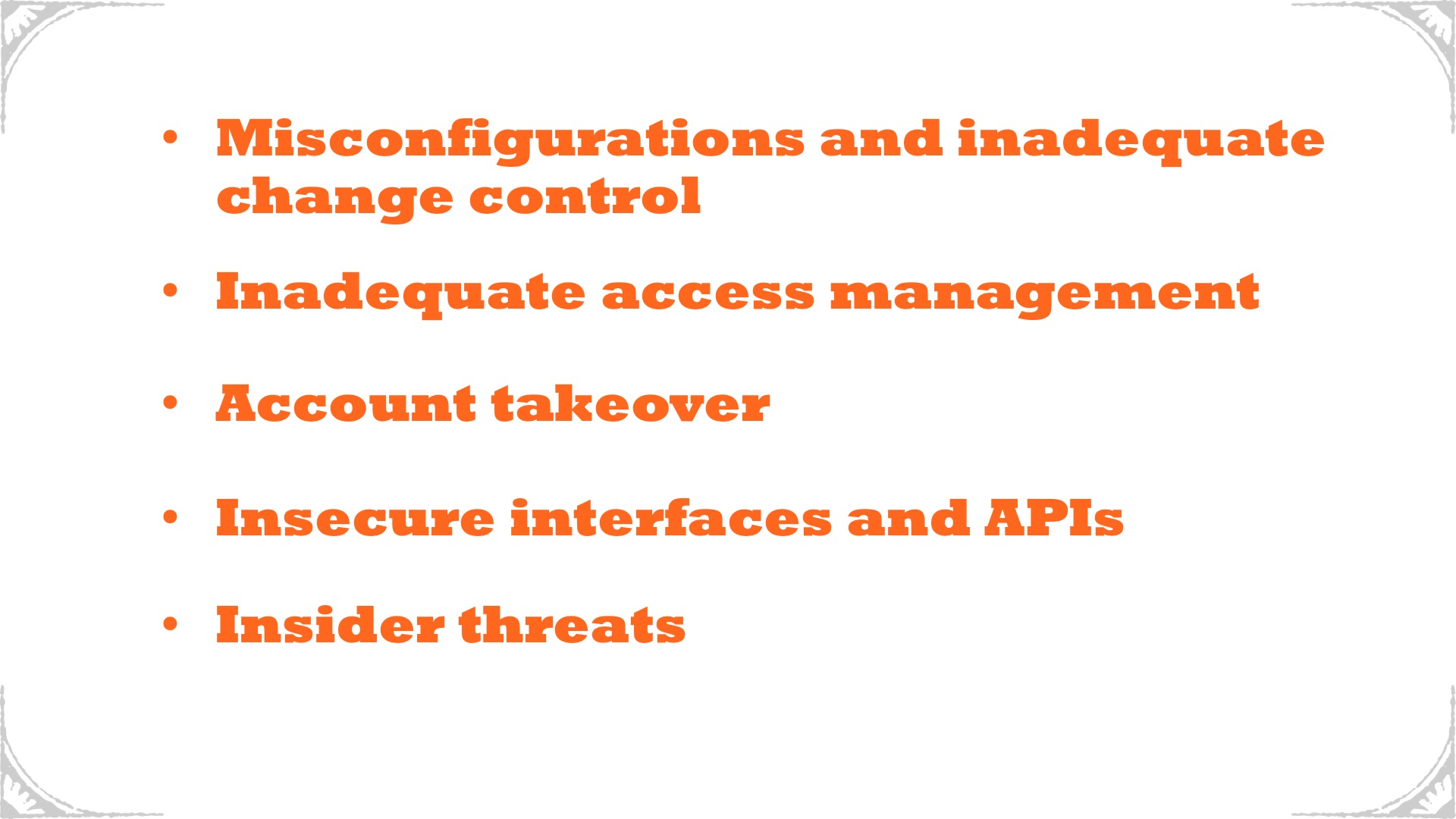 TGD Cloud Security Posture - Graphic - Bulleted List