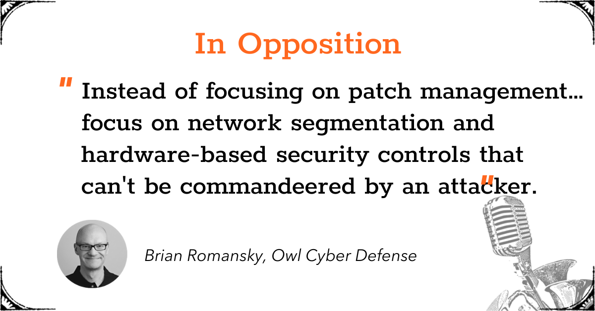 TGD Quotable - Patch & Vulnerability Management - In Opposition