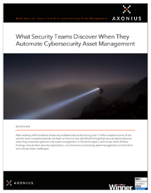 What Security Teams Discover When Automate Cybersecurity Asset Management