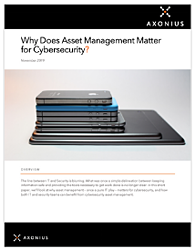 Why Does Asset Management Matter for Cybersecurity